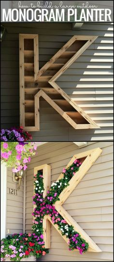 Add Character to Your Front Porch With This DIY Letter Planter Filled with Colourful Flowers!