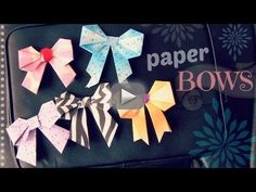 DIY: Paper Bow - Scrapbooking / Origami / Locker Decor - In this DIY, learn how to make a paper bow! These (almost) origami bows are great for scrapbooking, locker decorations, or even home decor. Check back next | http://diycraftstutorials.blogspot.com
