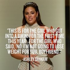 Shout-out to all the women who wore a bikini for the first time this year! Double shout-out to one of Glamour Magazine's Women of the Year, Ashley Graham! Body Shaming, Affirmations, Body Positivity, Body Confidence, Intersectional Feminism, Body Love, The Girl Who, Body Image, Self Love