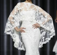 Elegant Asymmetrical Lace Bolero Wrap Jacket,Perfect to match your ...