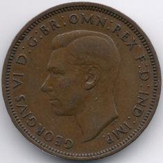 United Kingdom 1/2 Penny 1942