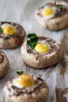 Quail egg stuffed Mushrooms