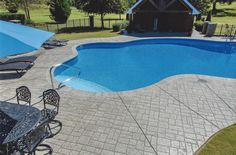 Specializing in decorative concrete resurfacing, refinishing & repair: Stamped & Stained Concrete, Epoxy Flooring, and more! CALL for a FREE Estimate! Concrete Resurfacing, Concrete Coatings, Stamped Concrete Patterns, Decorative Concrete, Deck Building Plans, Deck Repair, Deck Pictures, Concrete Pool, Swimming Pool Designs