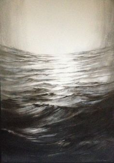 Marion Le Pennec Modern Art, Contemporary, Landscape Art, Waves, Ciel, Abstract, Drawings, Artwork, Painting
