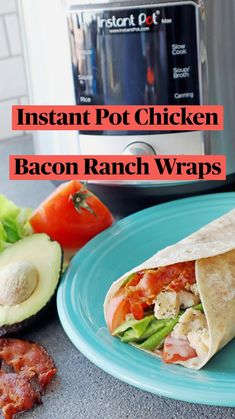 Gluten Free Recipes, Keto Recipes, Dinner Recipes, Slow Cook Soup, Chicken Bacon Ranch Wrap, Whole Wheat Tortillas, 30 Minute Meals, Recipes For Beginners, Pressure Cooker Recipes