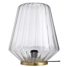 MARIETTE gold metal and ribbed glass lamp Decoration, Mariette, Entrance, Gold, Lights, Glass, Inspiration, Furniture, Pastels