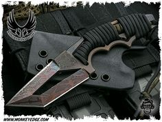 Bawidamann Blades: Custom Pogn-L CW Double Edge Etched Patina Finish Patina Finish, Axe, Knives, Weapons, Steel, Tools, Cool Stuff, Weapons Guns, Cool Things