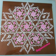 OMG, 25 Dots crossing in all the sides. Rangoli Designs Diwali, Dots, Collections, Flowers, Beautiful, Stitches, Royal Icing Flowers, Flower, Florals