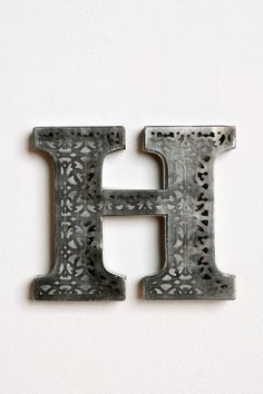 I have a personal obsession with decorating my house in the letter of my last name. So many different shapes, colors, sizes, and materials, you can make an interesting display of your namesake!