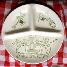 Mid-century Divided Ceramic Picnic Plate by ArcticCityArtifacts
