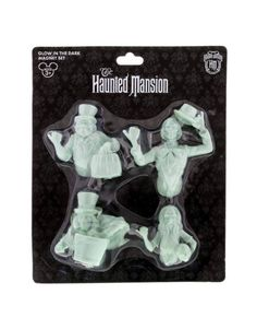 Disney Parks Magnet Set Haunted Mansion Glow In The Dark Ghosts Hat Box New  #DisneyWorld #HauntedMansion #HatboxGhost