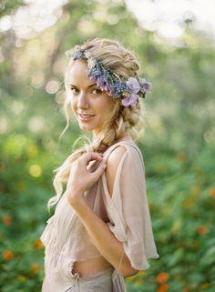 hair wreath flowers