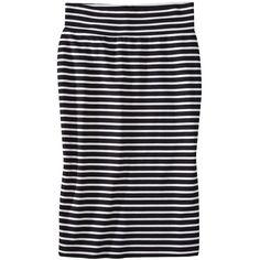Mossimo® Petites Ponte Stripe Skirt - Assorted Colors ($25) ❤ liked on Polyvore