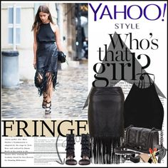 How To Wear Yahoo Style NYFW Trend Fringe 2... Outfit Idea 2017 - Fashion Trends Ready To Wear For Plus Size, Curvy Women Over 20, 30, 40, 50