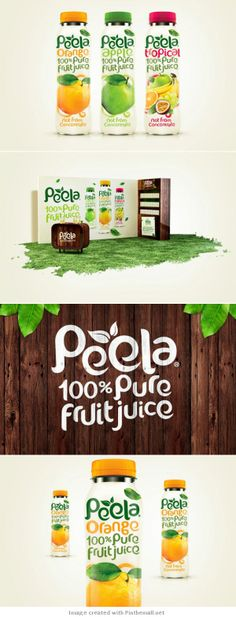 "The green font gives the brand ""Peela"" a natural feel, and the loose letters with leaves connote the jungle. The ""e""s have such a wide gap that they look like they could be leaves themselves. The loose font is also sort of playful, possibly appealing to a younger audience."
