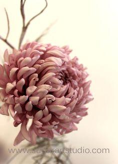 Cake Gumpaste Chrysanthemum www.sugarartstudio.com