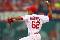 Making his MLB Starting pitcher debut- Carlos Martinez  pitches against the Los Angeles Dodgers...Cards lost the game 5-1.  8-08-13