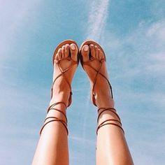 Lace up sandals @shophallelu