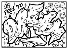 Graffiti Creator Colouring Pages In Capitals Graffiti ...