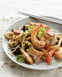 Stir-Fried Udon Noodles Recipe - this is my favorite! I add some crushed red pepper and a little honey. So good!!