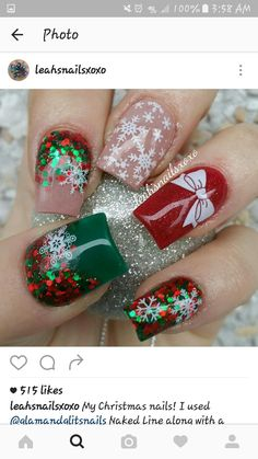 Christmas Acrylic Nails 2017 - Beautiful Nails Acrylic Design for Christmas 2017 12 - Beautiful Nails Acrylic Design for Acrylic Nails 2017, Acrylic Nail Designs, Christmas Nail Art Designs, Holiday Nail Art, Christmas Design, Trendy Nails, Cute Nails, Xmas Nails, Christmas Acrylic Nails