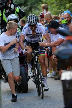 I remember watching live these idiots and their phones, right in Peter Sagan's face on stage 7 Tour de Pologne 2017 photo Atcommunication