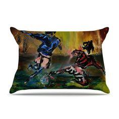 Slidetackle by Josh Serafin Soccer Cotton Pillow Sham