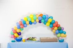 A Colorful Baby Shower Extravaganza by Color Pop Events | Tiny Prints Blog