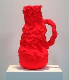 Beverly Semmes, Orange Paradise Pot, 2006, painted ceramic, 6 x 13 ""