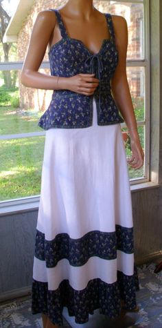 Gunne Sax Dress As Summer Breathes Out Vintage 11 by artemis53, $140.00