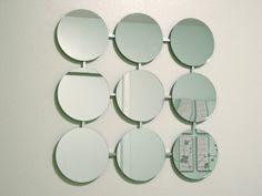 Mod Mirrors Retro Circles Modern Mirror 1960's by inspiring4u2, $69.00