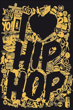 Typography Design of Hip Hop Genre (Art Design) Rap popular music is part regarding reputation