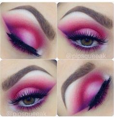 Pink and purple eyeshadow makeup