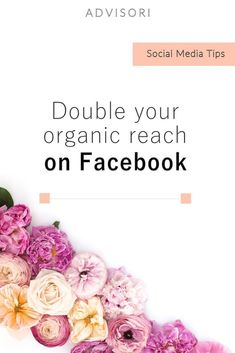 Double Your Organic Reach on // Advisori Marketing Marketing Services, Social Media Marketing Business, Facebook Business, Facebook Marketing, Social Media Tips, Internet Marketing, Online Business, Marketing Strategies, Digital Marketing