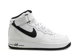 Mens Nike Air Force 1 Mid'07 White Black Shoes