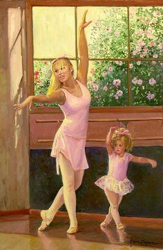 Danseuse en peinture