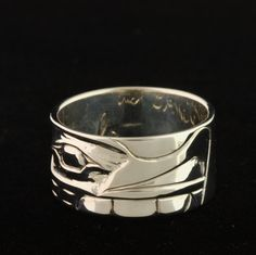 sterling silver ring by Erich Glendale.  Northwest coast art and First Nations Art at Ahtsik Native Art Gallery.