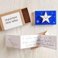 An important little letter: star mini matchbox por alpandash