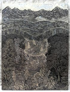 Artists Spent Two Years Carving Intricate Woodcut of Stunning Landscape - My Modern Met.