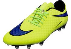 Nike Hypervenom Phantom FG Soccer Cleats - Volt and Hot Lava