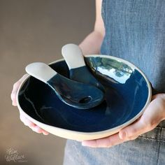 Just pulled one of the gorgeous serving platters from the kiln. Time to do a big shop update today!