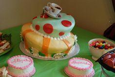A mad cake! Alice Tea Party, Mad, Desserts, Tailgate Desserts, Deserts, Postres, Dessert, Plated Desserts
