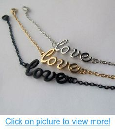 3pcs Love Pattern Punk Style Bracelet Simple Charms Black Silver Gold Tone Ankle