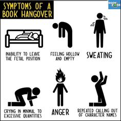 I had all of these symptoms after finishing The Lunar Chronicles and Hunger Games, and a few of those symptoms after finishing other books as well!