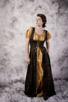Bodice-Dress-Gown-Renaissance-Medieval-Costume-Wedding-Wench-SCA-LARP-Chemise