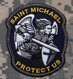 Amazon.com: Saint Michael Modern Morale Patch (Woodland (Forest)): Clothing (This color is great!)