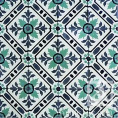 "Traditional Toscana Cement Tile 8"" x 8"" Handmade Cement Tile"