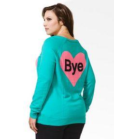 Hi Bye Heart Sweater   FOREVER21 PLUS - 2000050166