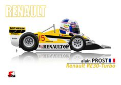 Alain Prost won his first F1 race in the Renault RE30