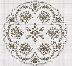 Home Decor Crochet Patterns Part 12 - Beautiful Crochet Patterns and Knitting Patterns Thread Crochet, Crochet Stitches, Knit Crochet, Crochet Patterns, Knitting Patterns, Cross Stitching, Cross Stitch Embroidery, Cross Stitch Patterns, Filet Crochet Charts